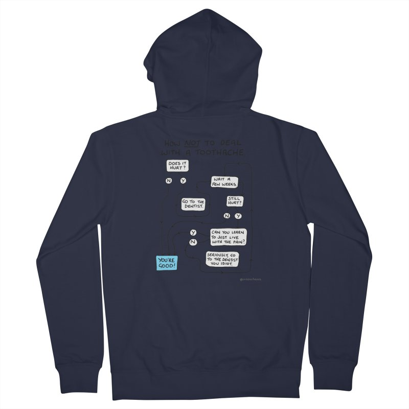 Toothache Comic (For The Dentist Waiting Rooms) Men's French Terry Zip-Up Hoody by Prinstachaaz