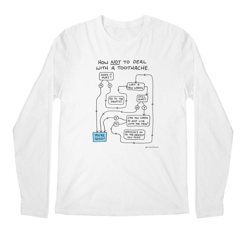 Toothache Comic (For The Dentist Waiting Rooms) Men's Regular Longsleeve T-Shirt by Prinstachaaz