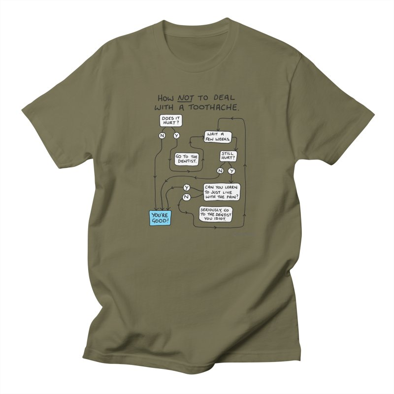 Toothache Comic (For The Dentist Waiting Rooms) Men's Regular T-Shirt by Prinstachaaz