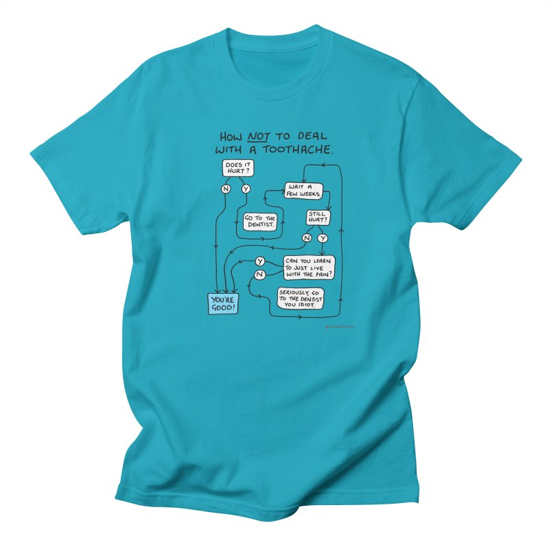 Toothache Comic (For The Dentist Waiting Rooms) Women's Regular Unisex T-Shirt by Prinstachaaz