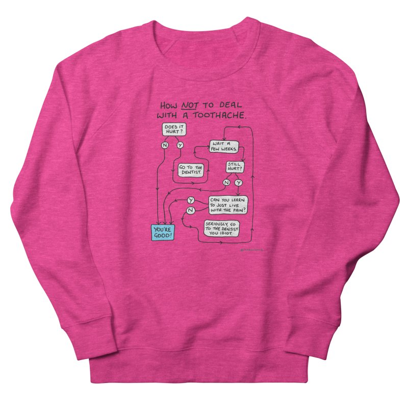 Toothache Comic (For The Dentist Waiting Rooms) Women's French Terry Sweatshirt by Prinstachaaz