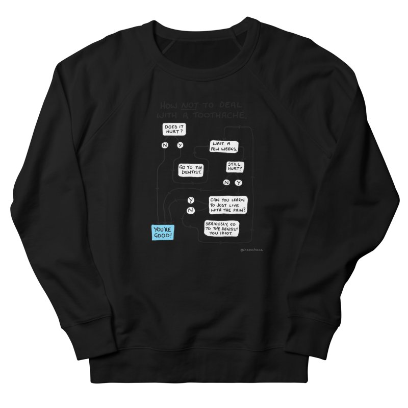 Toothache Comic (For The Dentist Waiting Rooms) Men's French Terry Sweatshirt by Prinstachaaz