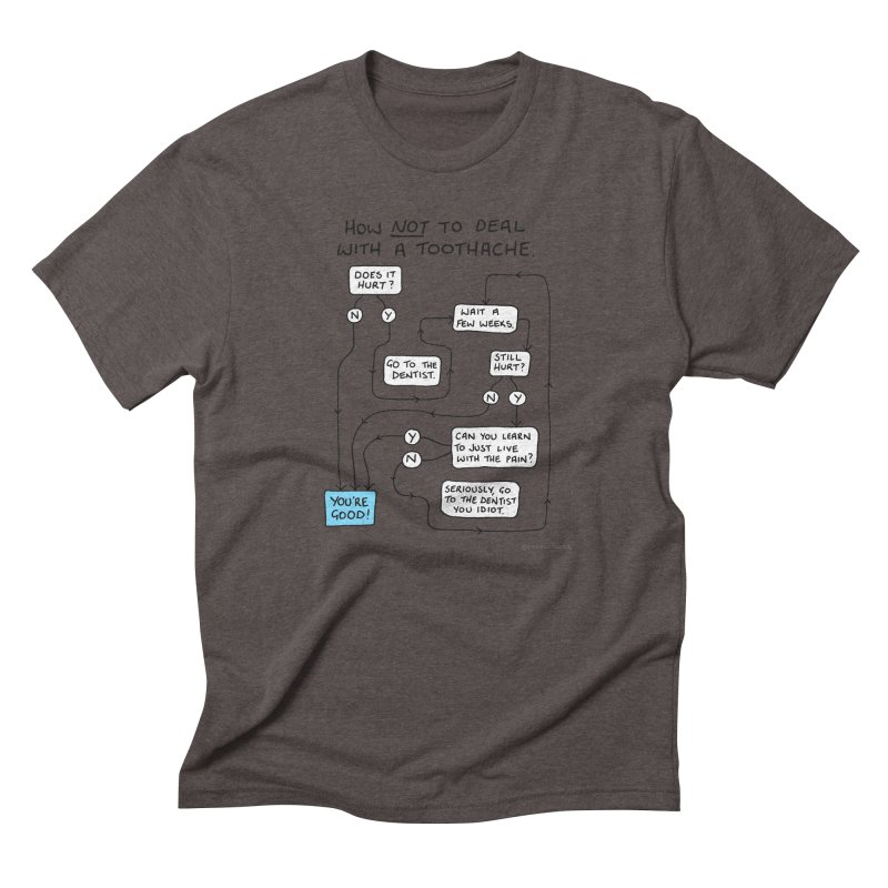 Toothache Comic (For The Dentist Waiting Rooms) Men's Triblend T-Shirt by Prinstachaaz