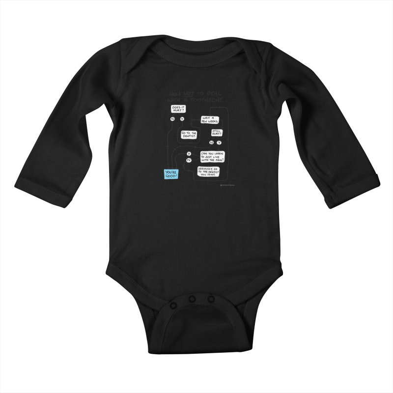 Toothache Comic (For The Dentist Waiting Rooms) Kids Baby Longsleeve Bodysuit by Prinstachaaz