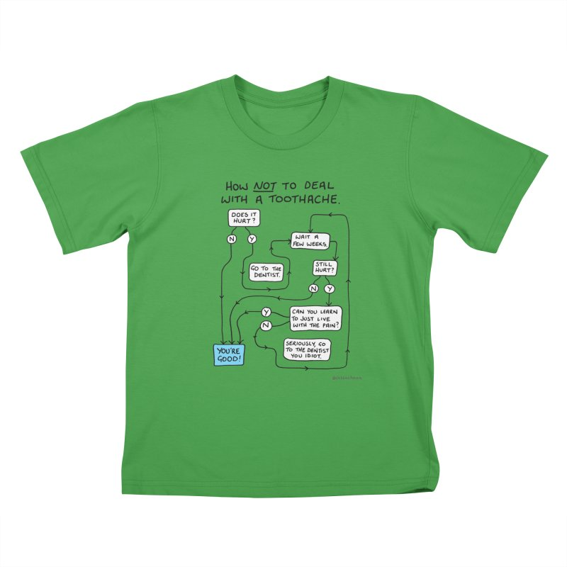Toothache Comic (For The Dentist Waiting Rooms) Kids T-Shirt by Prinstachaaz