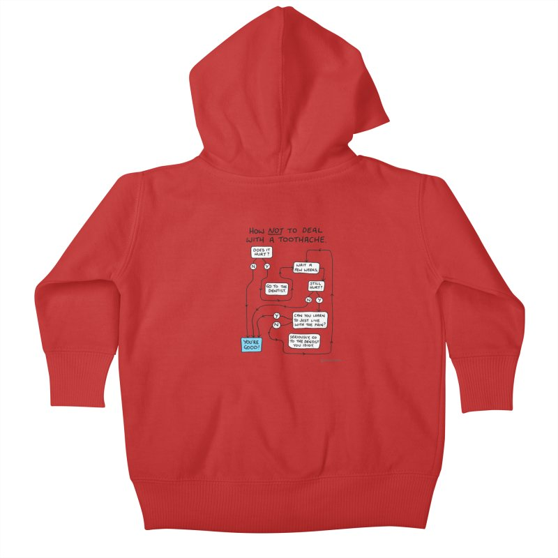 Toothache Comic (For The Dentist Waiting Rooms) Kids Baby Zip-Up Hoody by Prinstachaaz