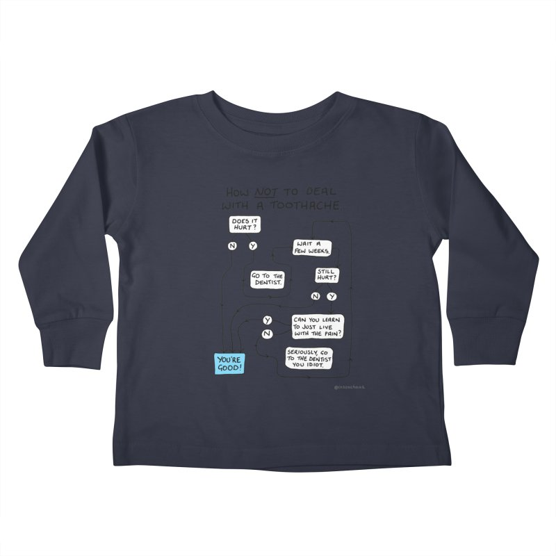 Toothache Comic (For The Dentist Waiting Rooms) Kids Toddler Longsleeve T-Shirt by Prinstachaaz