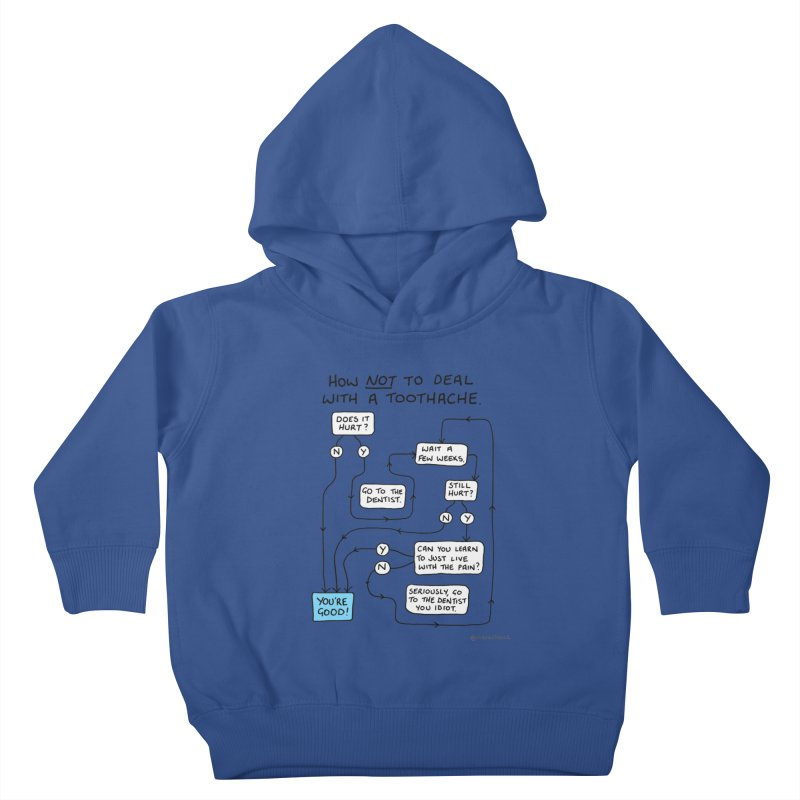 Toothache Comic (For The Dentist Waiting Rooms) Kids Toddler Pullover Hoody by Prinstachaaz