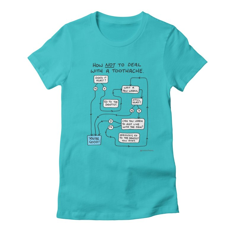 Toothache Comic (For The Dentist Waiting Rooms) Women's Fitted T-Shirt by Prinstachaaz