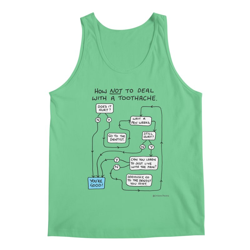 Toothache Comic (For The Dentist Waiting Rooms) Men's Regular Tank by Prinstachaaz