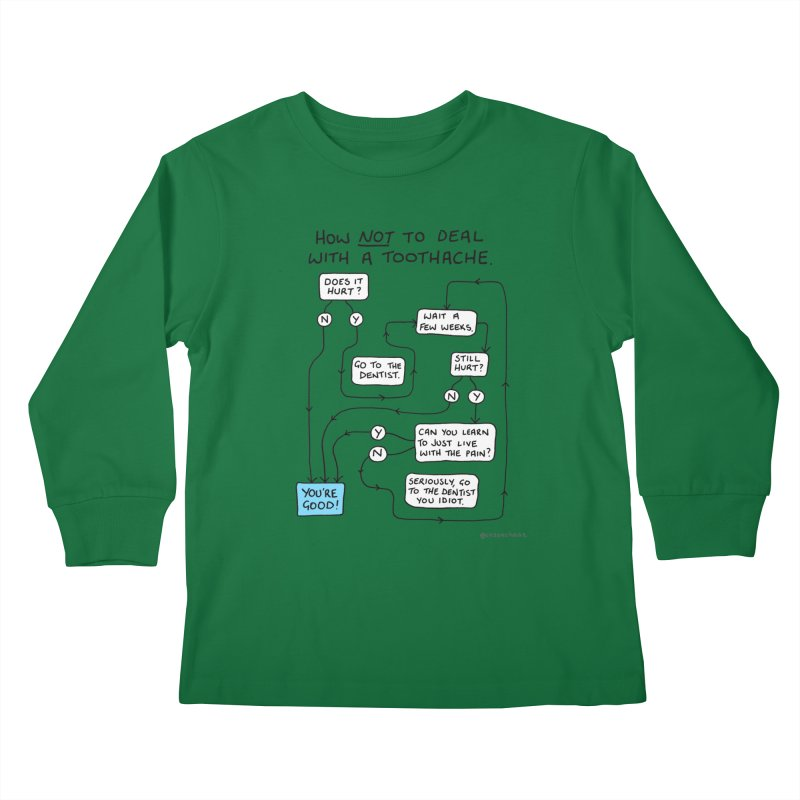Toothache Comic (For The Dentist Waiting Rooms) Kids Longsleeve T-Shirt by Prinstachaaz