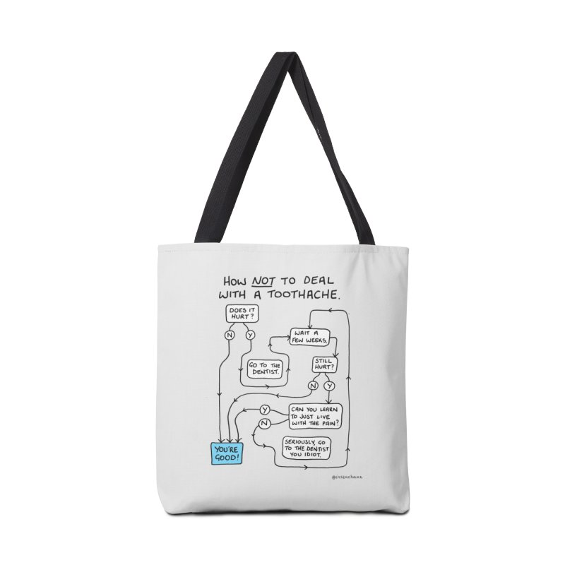 Toothache Comic (For The Dentist Waiting Rooms) Accessories Tote Bag Bag by Prinstachaaz