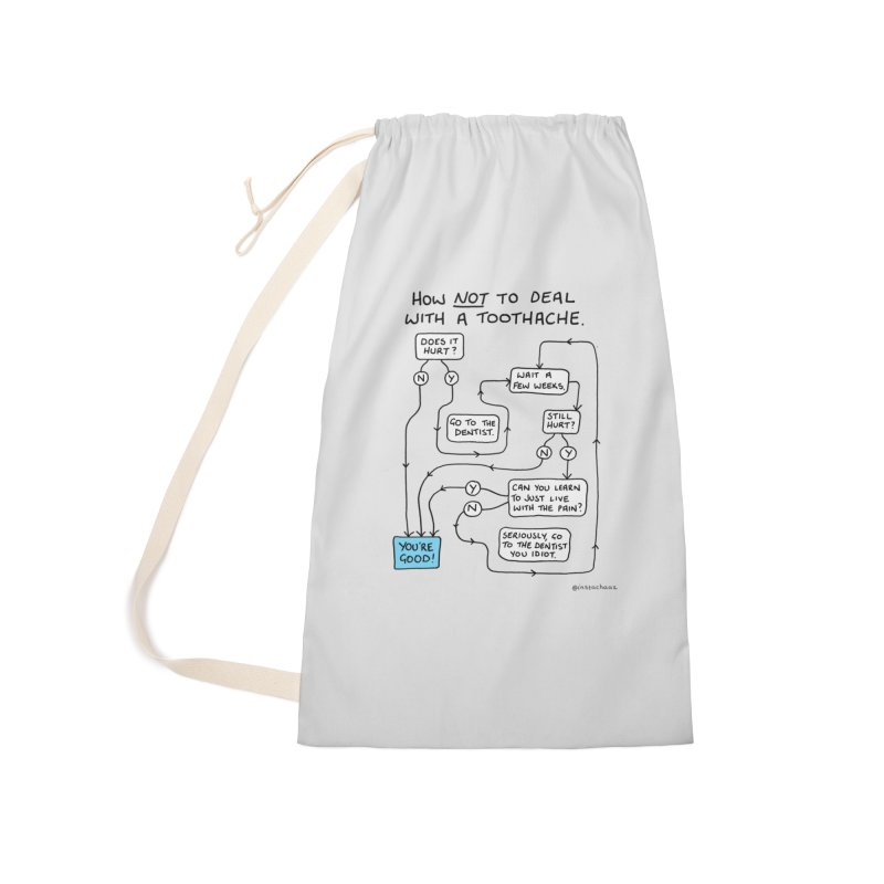 Toothache Comic (For The Dentist Waiting Rooms) Accessories Laundry Bag Bag by Prinstachaaz