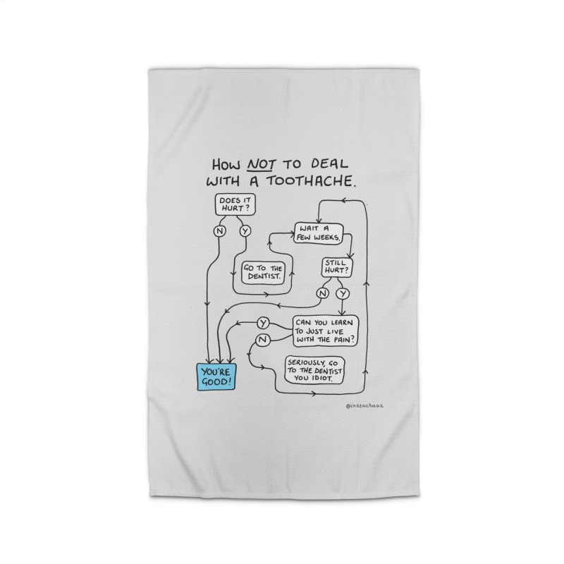 Toothache Comic (For The Dentist Waiting Rooms) Home Rug by Prinstachaaz