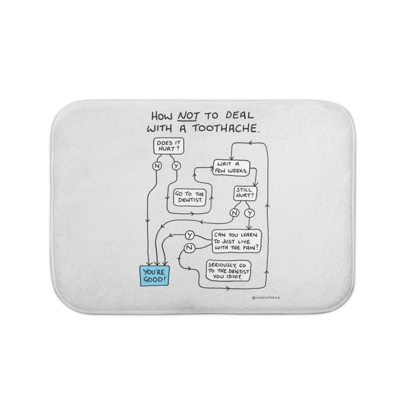 Toothache Comic (For The Dentist Waiting Rooms) Home Bath Mat by Prinstachaaz