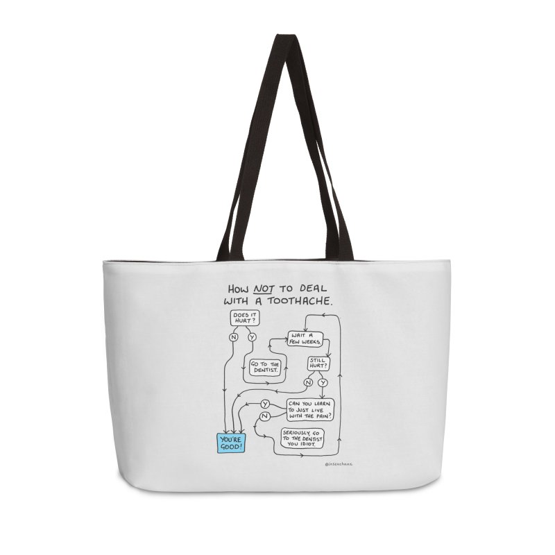 Toothache Comic (For The Dentist Waiting Rooms) Accessories Weekender Bag Bag by Prinstachaaz