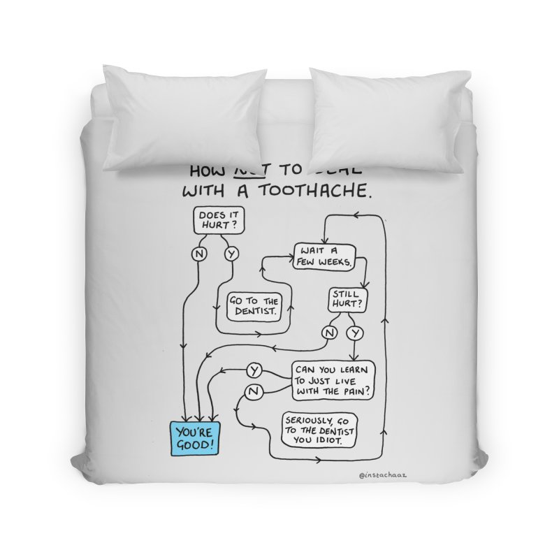 Toothache Comic (For The Dentist Waiting Rooms) Home Duvet by Prinstachaaz