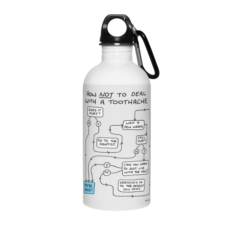 Toothache Comic (For The Dentist Waiting Rooms) Accessories Water Bottle by Prinstachaaz