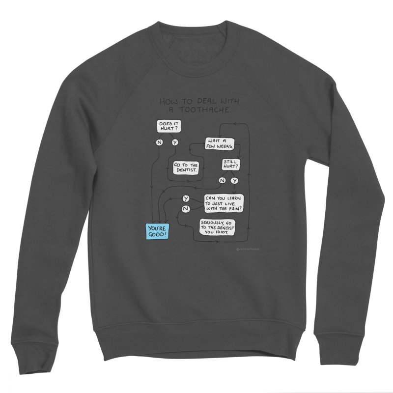 Toothache (Original) Men's Sponge Fleece Sweatshirt by Prinstachaaz