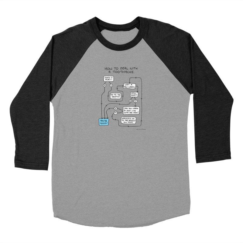 Toothache (Original) Men's Baseball Triblend Longsleeve T-Shirt by Prinstachaaz