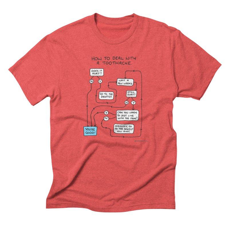 Toothache (Original) Men's Triblend T-Shirt by Prinstachaaz