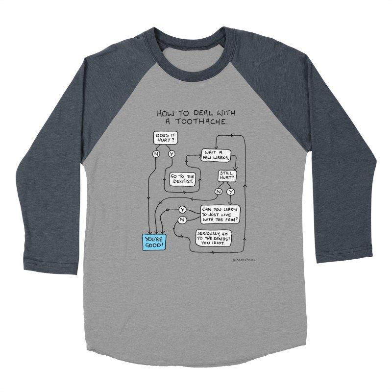 Toothache (Original) Women's Baseball Triblend Longsleeve T-Shirt by Prinstachaaz
