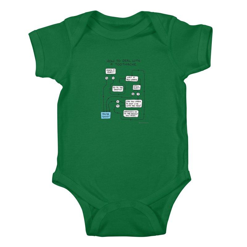 Toothache (Original) Kids Baby Bodysuit by Prinstachaaz