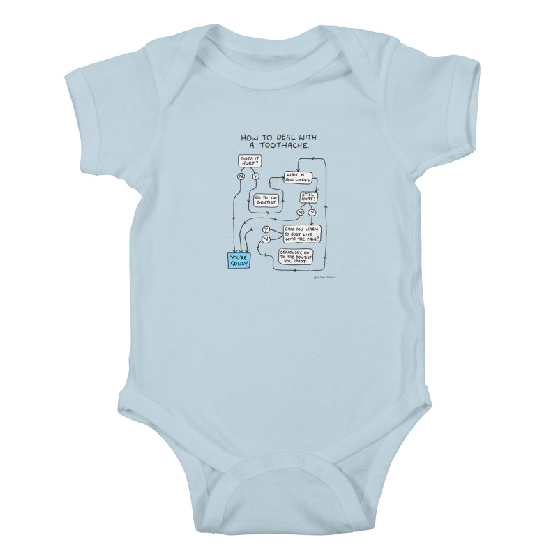 Toothache (Original) Kids Baby Bodysuit by Prinstachaaz