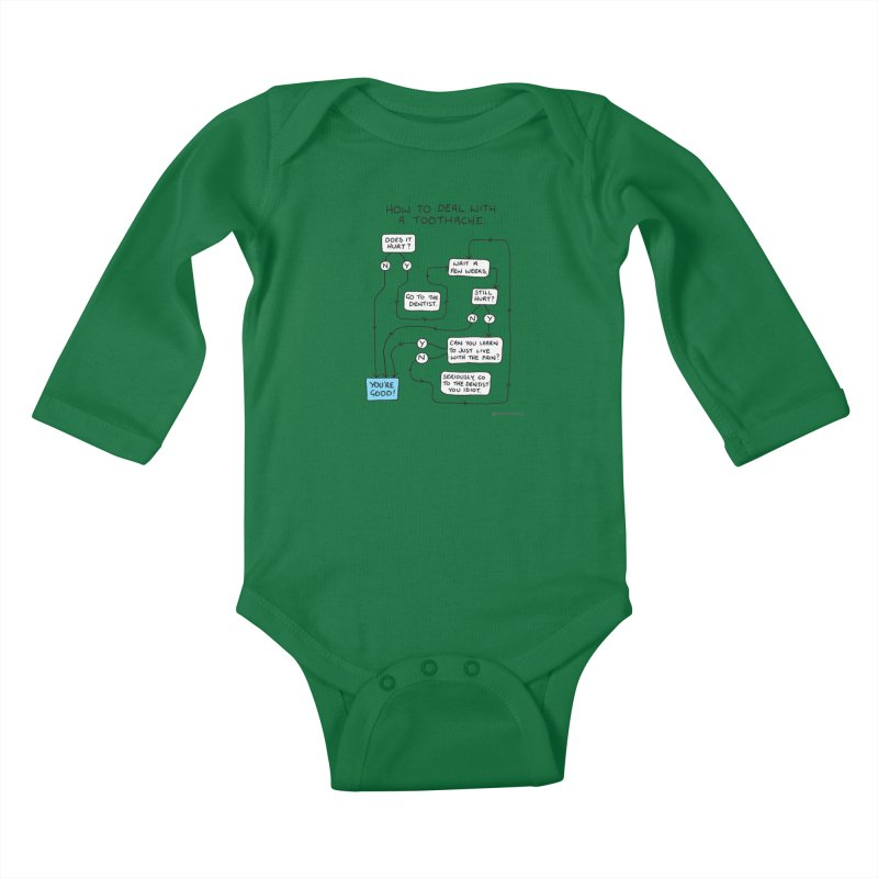 Toothache (Original) Kids Baby Longsleeve Bodysuit by Prinstachaaz