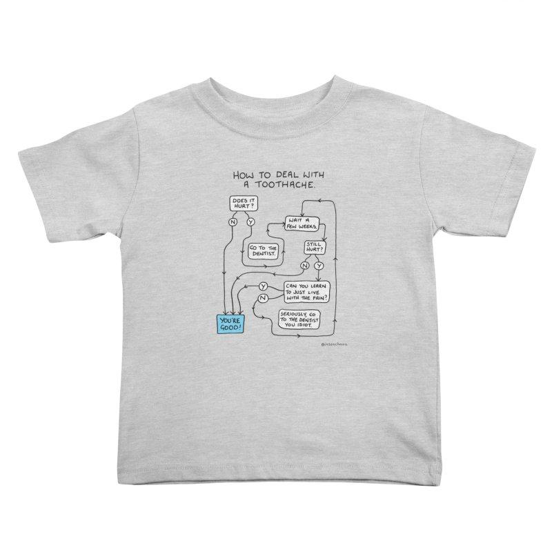 Toothache (Original) Kids Toddler T-Shirt by Prinstachaaz