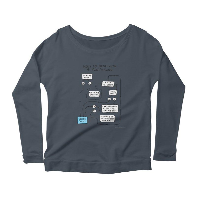 Toothache (Original) Women's Scoop Neck Longsleeve T-Shirt by Prinstachaaz