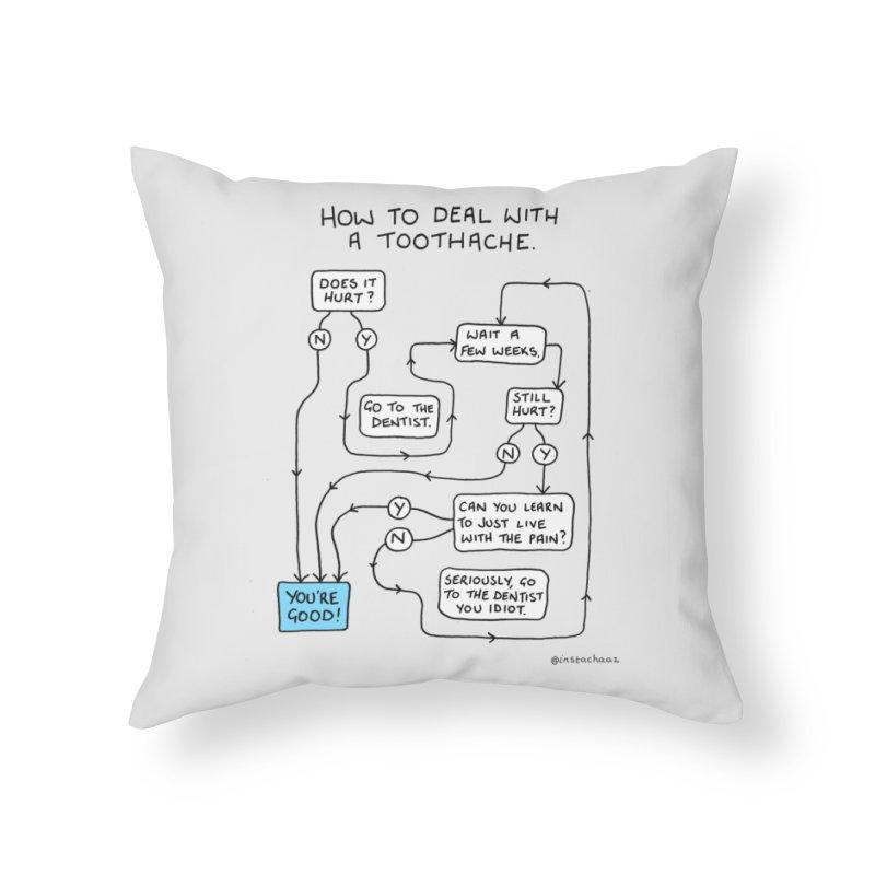 Toothache (Original) Home Throw Pillow by Prinstachaaz
