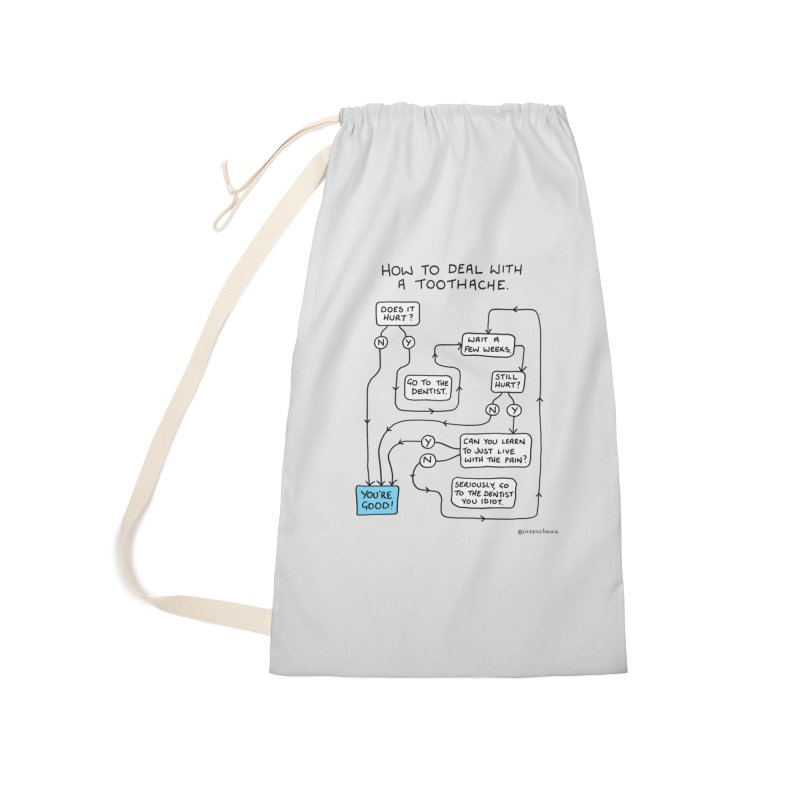 Toothache (Original) Accessories Laundry Bag Bag by Prinstachaaz