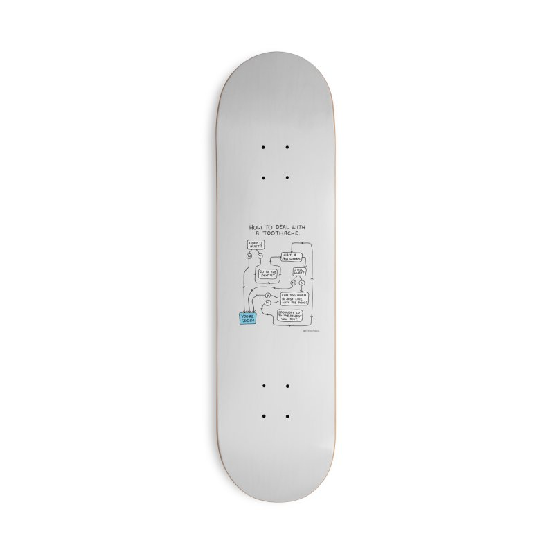 Toothache (Original) Accessories Deck Only Skateboard by Prinstachaaz