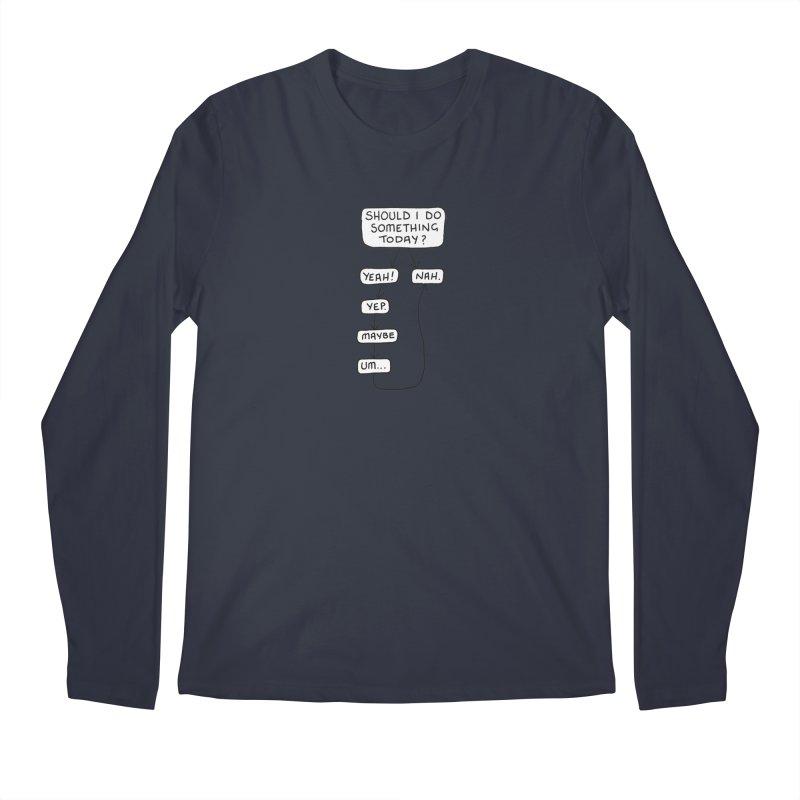 Should I... Men's Regular Longsleeve T-Shirt by Prinstachaaz