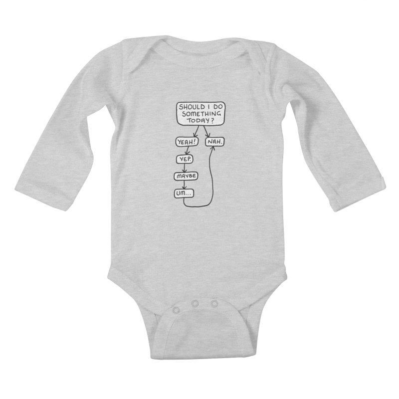 Should I... Kids Baby Longsleeve Bodysuit by Prinstachaaz