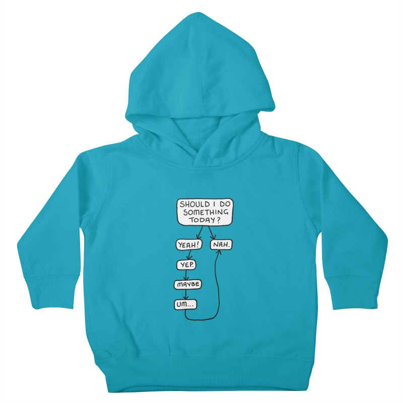 Should I... Kids Toddler Pullover Hoody by Prinstachaaz