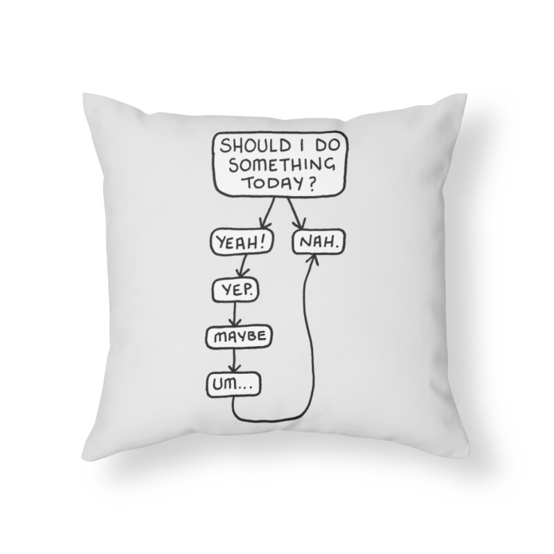 Should I... Home Throw Pillow by Prinstachaaz