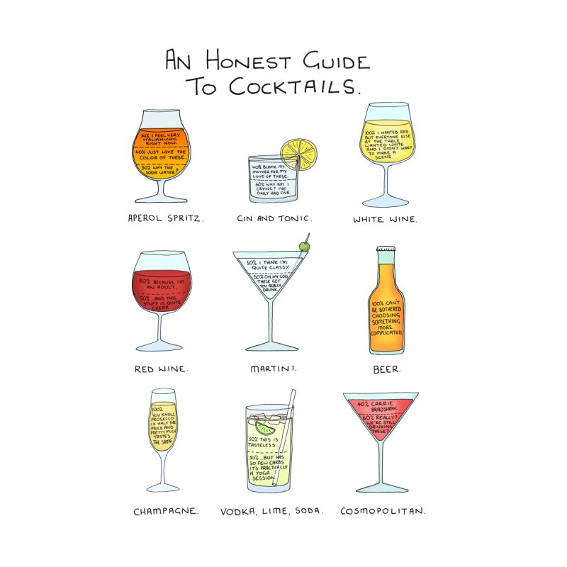 An Honest Guide to Cocktails Men's T-Shirt by Prinstachaaz