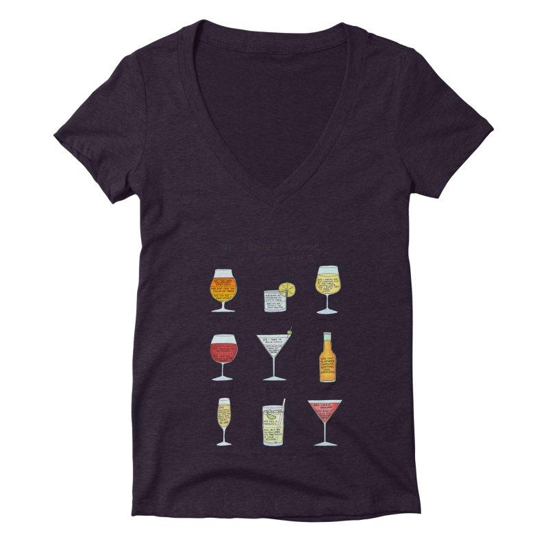 An Honest Guide to Cocktails Women's Deep V-Neck V-Neck by Prinstachaaz
