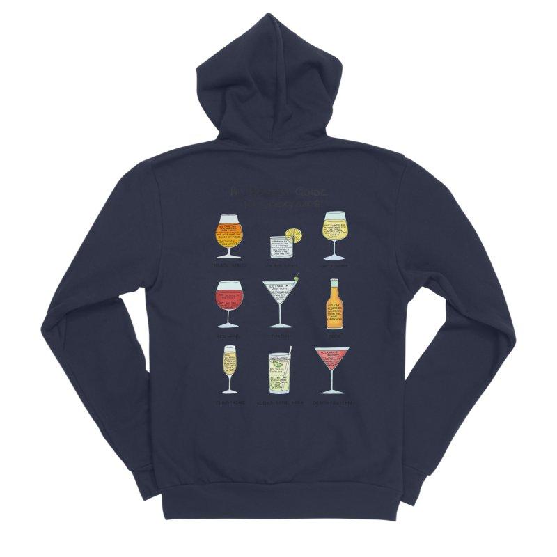 An Honest Guide to Cocktails Men's Sponge Fleece Zip-Up Hoody by Prinstachaaz