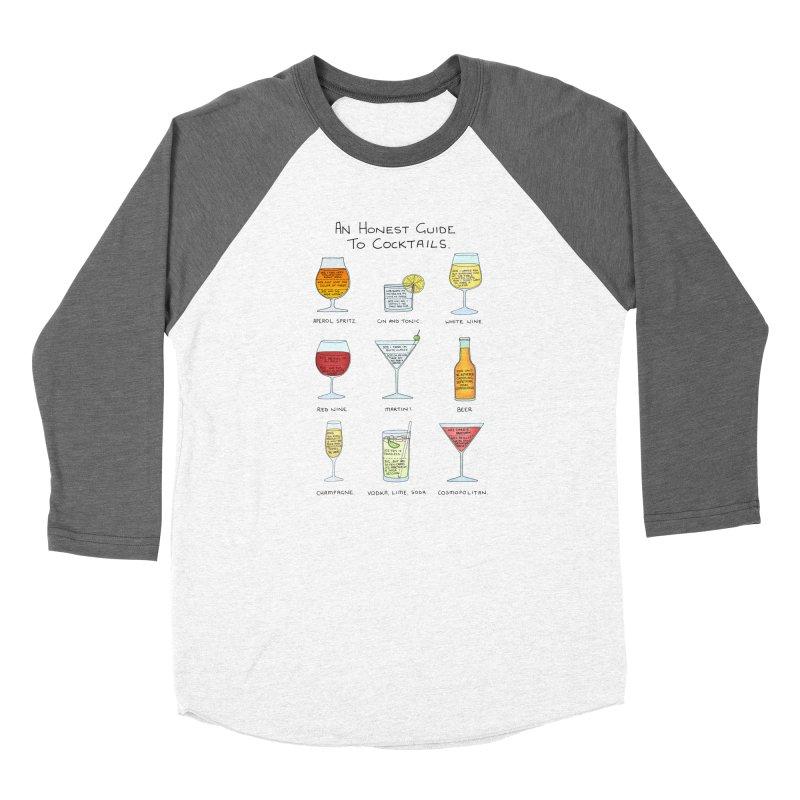 An Honest Guide to Cocktails Men's Baseball Triblend Longsleeve T-Shirt by Prinstachaaz