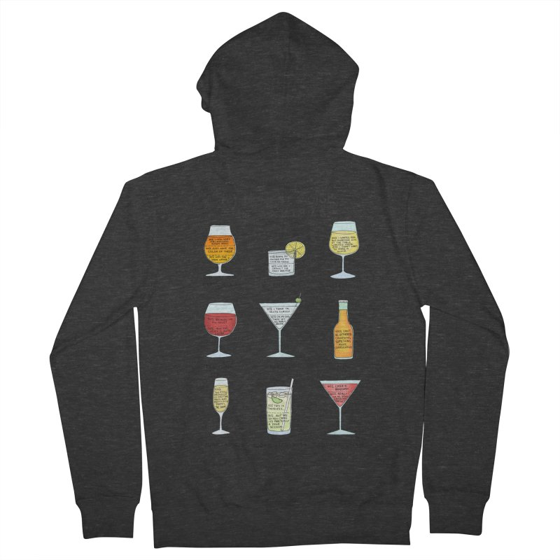 An Honest Guide to Cocktails Men's French Terry Zip-Up Hoody by Prinstachaaz