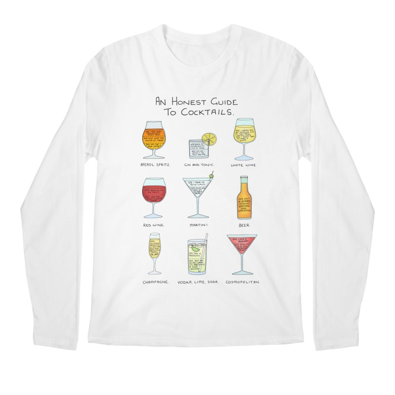 An Honest Guide to Cocktails Men's Regular Longsleeve T-Shirt by Prinstachaaz