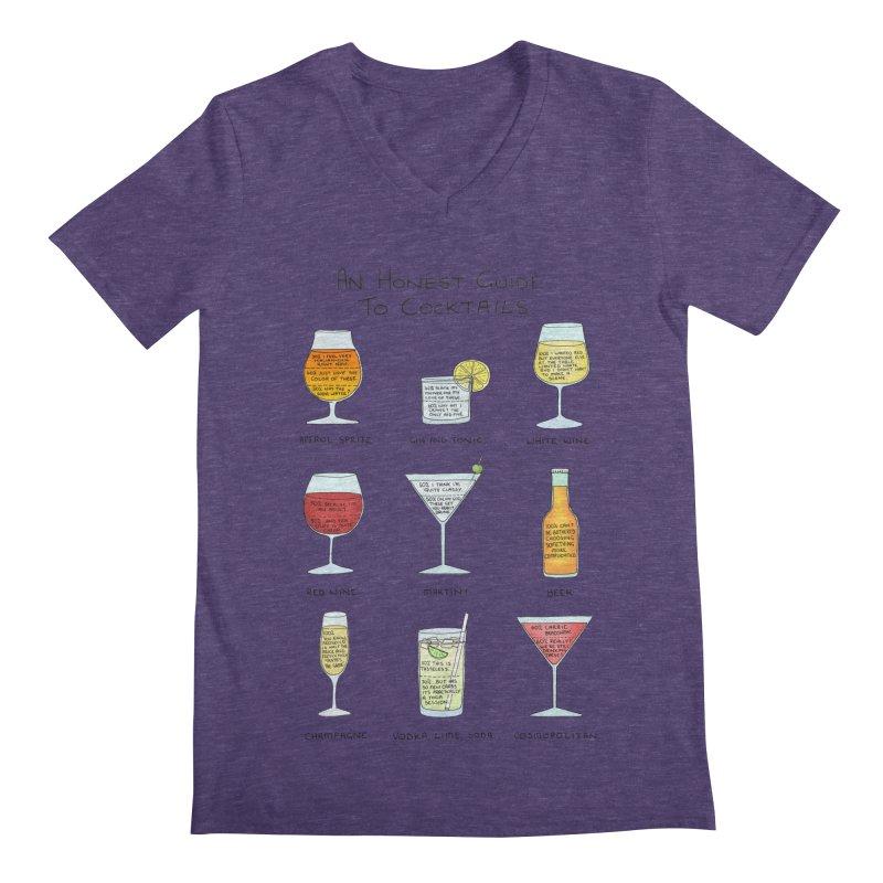 An Honest Guide to Cocktails Men's Regular V-Neck by Prinstachaaz