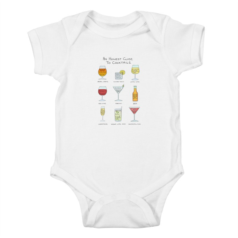 An Honest Guide to Cocktails Kids Baby Bodysuit by Prinstachaaz