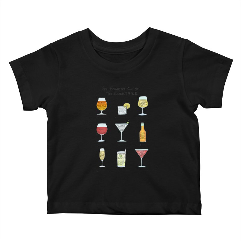 An Honest Guide to Cocktails Kids Baby T-Shirt by Prinstachaaz