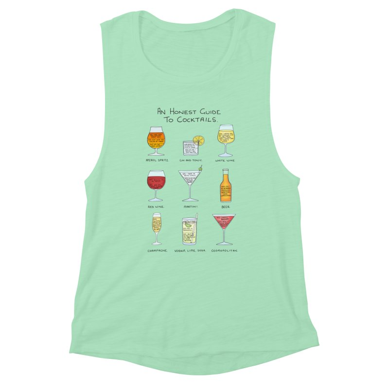 An Honest Guide to Cocktails Women's Muscle Tank by Prinstachaaz