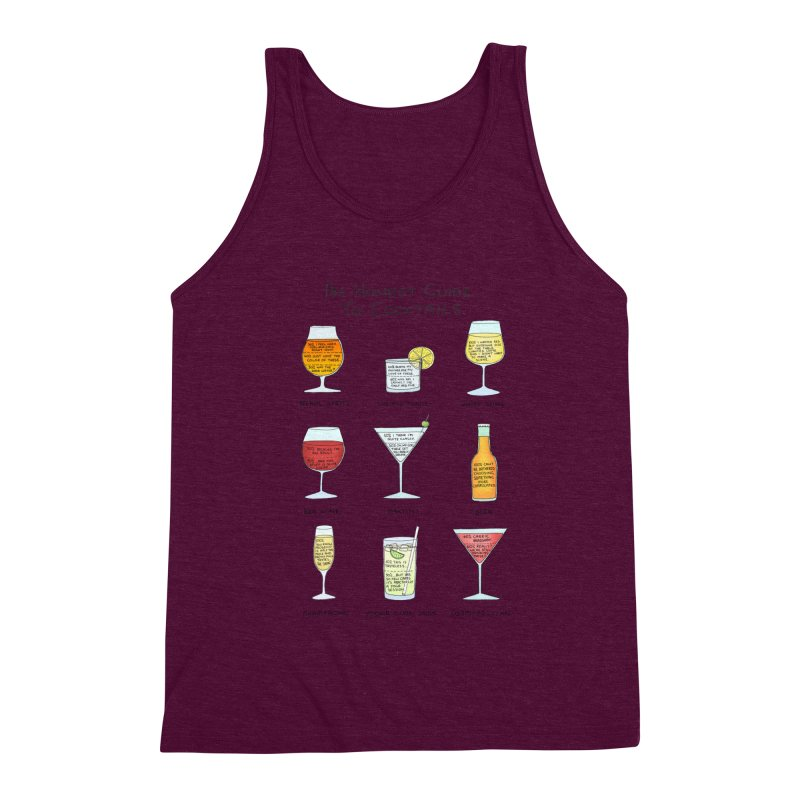 An Honest Guide to Cocktails Men's Triblend Tank by Prinstachaaz