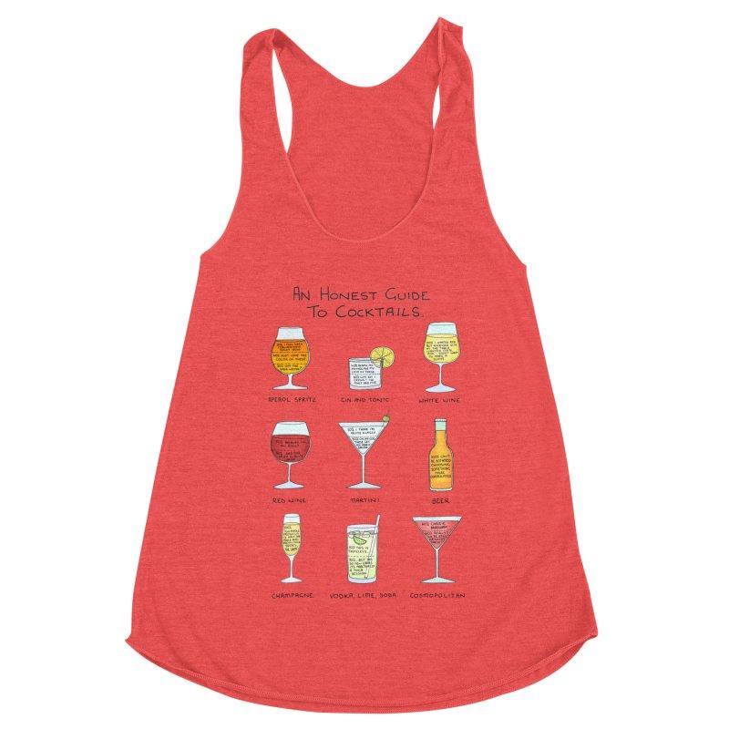 An Honest Guide to Cocktails Women's Racerback Triblend Tank by Prinstachaaz